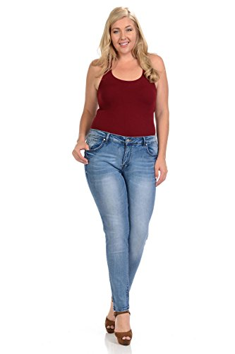 Sweet Look Black Edition Women's Jeans · Plus Size · High Waist · Push Up · Style A283 · Blue · Size 18 by Sweet Look