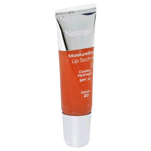 Neutrogena MoistureShine Lip Soother, SPF 20, Glisten 20, 0.