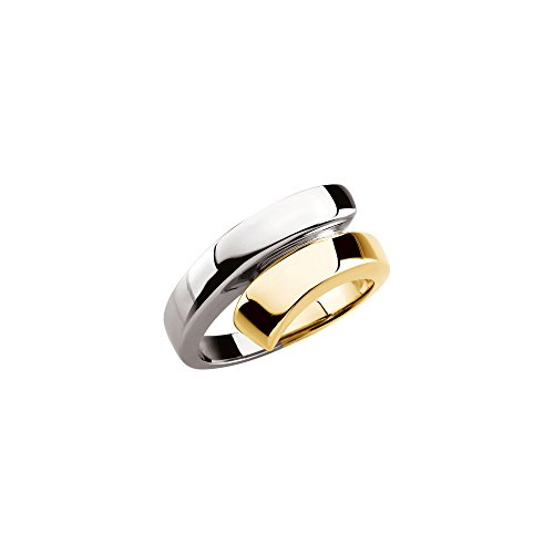 14K Two-tone Gold Bypass Ring ()