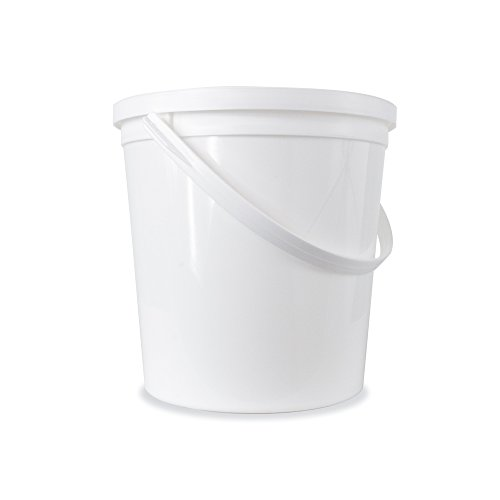 Food Grade 2/3 (0.66) Gallon Bucket - 8 Pack With Lids - Snap On Grommets
