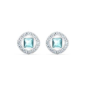 SWAROVSKI Women's Angelic Square Crystal Jewelry Collection, Pink Crystals, Blue Crystals (Amazon Exclusive)