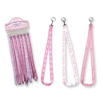 Breast Cancer Awareness Lanyard keychain by bulk buys