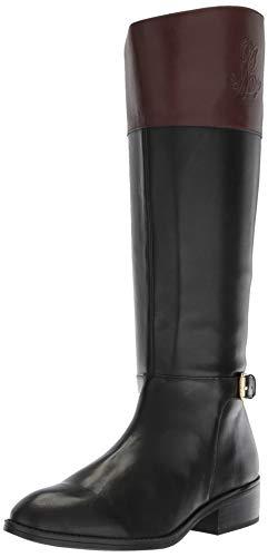Lauren Ralph Lauren Women's Madisen-W Fashion Boot, Black 001, 6.5 B US