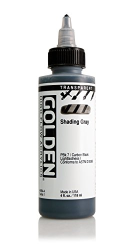 4oz. High Flow Acrylic Paint Color: Transparent Shading Gray