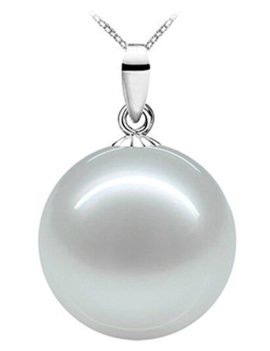 B.Z La Vie Bijoux Femme Perle Nacre d eau douce Grande 18mm Argent Fin 925 3b060f824b78