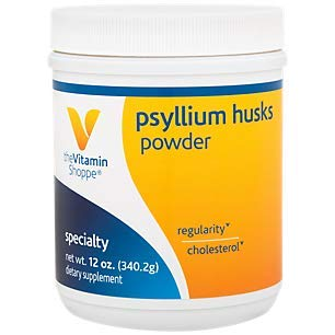 Psyllium Husks Powder – Fiber Supplement That Supports Regularity Healthy Cholesterol, Easy Mixing Powder – 68 Servings, 13 Times Daily (12 Ounces Powder) by The Vitamin Shoppe