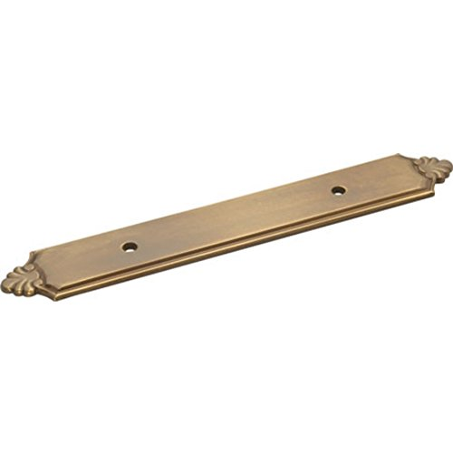 20 Pack Sherwood Antique Brass A110 Solid Brass 3''cc Cabinet Handle Backplates