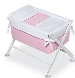 Bimbi Elite–Baby, 68x 90x 71cm, Farbe Weiß und Rosa