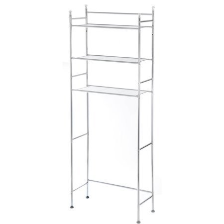 Mainstays 3-Shelf Bathroom Space Saver, Chrome by Mainstays