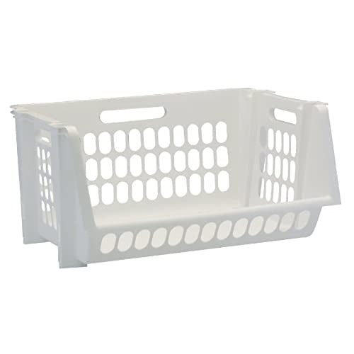 United Solutions SB0119 Set of Three Medium Stack and Storage Bins in White-3 Perforated Medium Stackable Bins in White to Organize Your Life  sc 1 st  Amazon.com & Plastic Stackable Storage Bins: Amazon.com