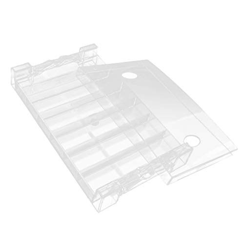 MagiDeal Thick Acrylic Clear Poker/Blackjack Casino Chip Tray Rack (6 Row/300 Chips) by Unknown