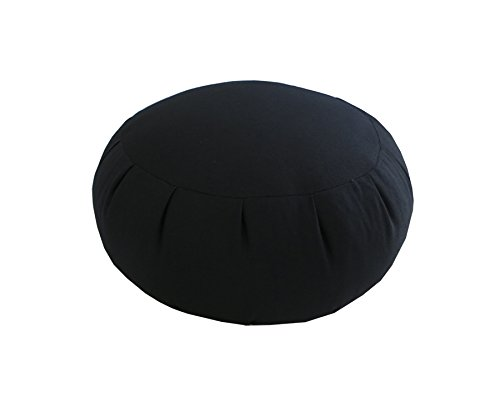 Buckwheat Zafu Meditation Cushion, Black