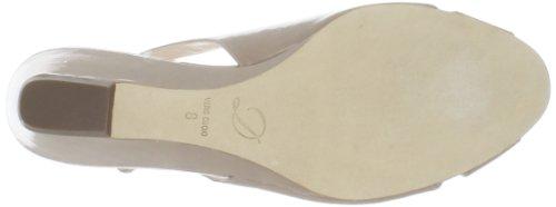 Delman Womens Capri Wedge Sandal Nude Patent m74n1PjjV