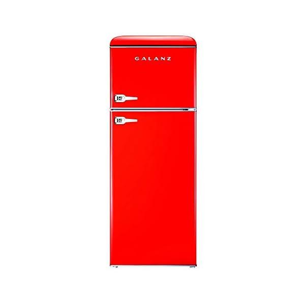 Galanz – Retro Look Refrigerator, Modern Energy Star Effciency, 2-3 Adjustable...