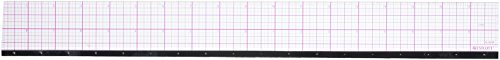 Westcott 8ths Graph Beveled Ruler, Metal Edge 18-Inch (B-85M)