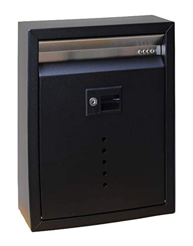 Wall Mounted Mailbox with Lock Color: Black, Size: Large (15