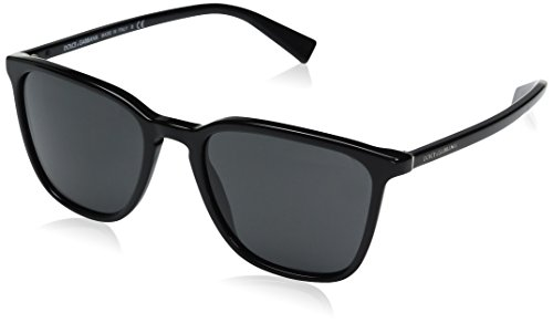 Dolce & Gabbana Men's Acetate Man Square Sunglasses, Black, 53 - Gabana Men And Dolce