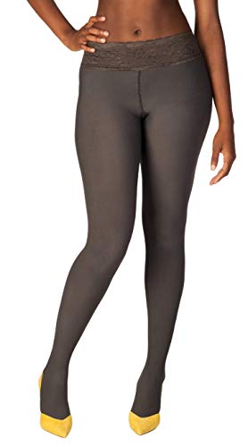 aque Tights | Comfortable, Lace Top | Low-rise Sits On Your Hip (C, Gray) ()