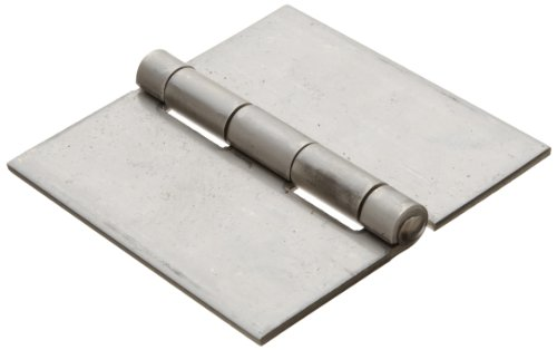 Stainless Steel 304 Surface Mount Butt Hinge without Hole, 2B Mill Finish, 0.120'' Leaf Thickness, 4'' Open Width, 1/4'' Pin Diameter, 4'' Long, Non-Removable Pin (Pack 1) by Small Parts
