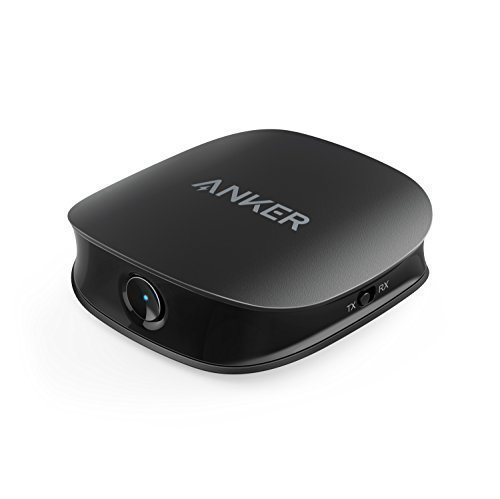 Anker Soundsync A3341 Bluetooth 2-in-1 Transmitter and Receiver, with Bluetooth 5, HD Audio with Lag-Free Synchronization, and AUX/RCA/Optical Connection for TV and Home Stereo System (Bluetooth Transmitter For Tv Digital Audio Out)