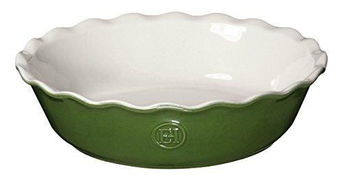 Green Pie Pan (Emile Henry 626122 HR Ceramic Mini Pie Dish, Spring)