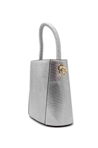 Lili'Shop selections, Borsa a mano donna argento argento