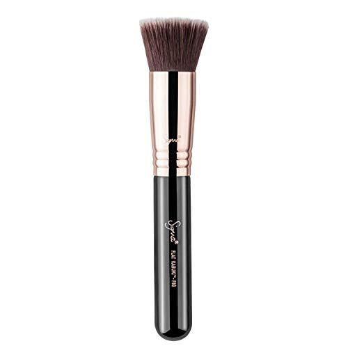 (Sigma Beauty Flat Kabuki Makeup Brush F80 - Flat Top Head, Soft & Dense Fibers)