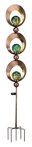 Regal Art & Gift 11880 Solar Triple Sphere Stake Lighting, Copper