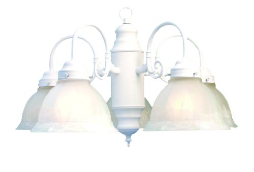 Woodbridge Lighting 10002 5 Light Basic Chandelier White