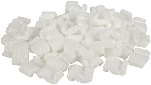 White Recyclable EPS Packing Peanuts by MT Products - (Approximately 0.60 Cubic Foot)