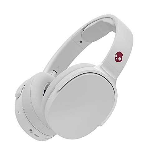 Skullcandy Hesh 3 Bluetooth Wireless Over-Ear Headphones with Microphone, Rapid Charge 22-Hour Battery, Foldable, Memory Foam Ear Cushions for Comfortable All-Day Fit, Vice/Gray/Crimson