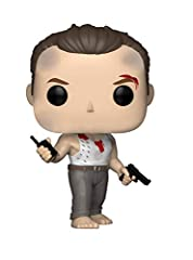 From die hard, John mcclaneby, as a stylized pop vinyl from Funko! figure stands 3 3/4 inches and comes in a window display box. Check out the other die hard figures from Funko! collect them all!