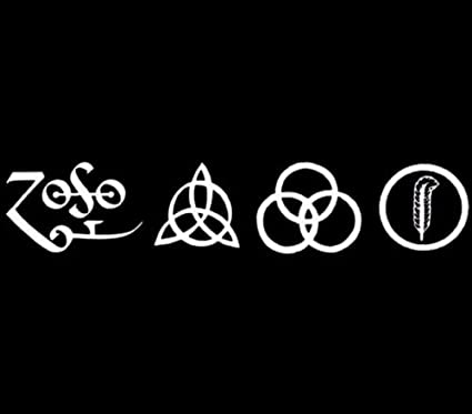 All 4 led zeppelin runes decal vinyl window sticker car truck jdm rock music die