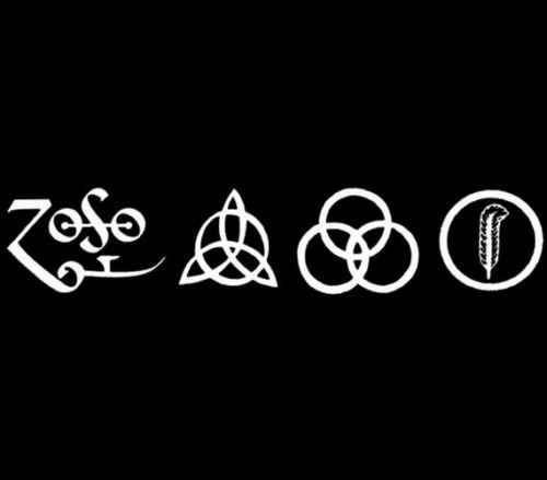 - All 4 Led Zeppelin Runes Decal vinyl window sticker car truck jdm rock music, Die cut vinyl decal for windows, cars, trucks, tool boxes, laptops, MacBook - virtually any hard, smooth surface