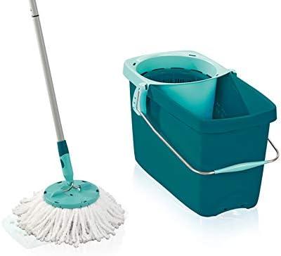 Wischmop Bodenwischer Reiniger Mop Komplett-Set 360° Eimer Schleuder 3 Farbe DE