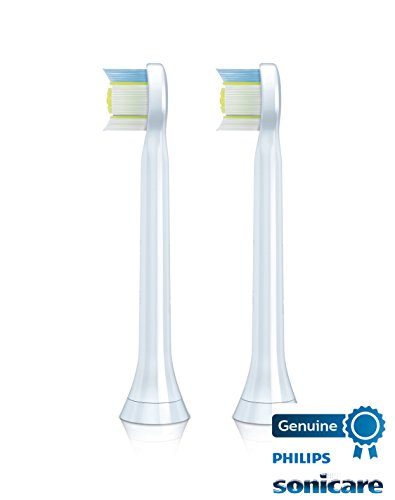 Philips Sonicare DiamondClean replacement toothbrush heads, HX6072/66, White 2-count Compact
