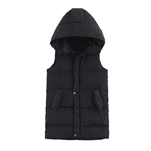 Coat Alla Da Moda Hooded Giacca Down fashion Jacket Outdoor Donna Pocket Nero Womens Vest A76qq4