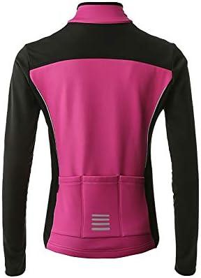 MYSENLAN Femme Hiver Veste Coupe-Vent Thermique Polaire Manteau Sport Softshell Chaud Jacket pour Cyclisme Ski Blouson