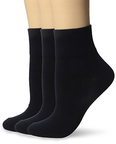 HUE Women's Cotton Body Socks (Pack of 3)