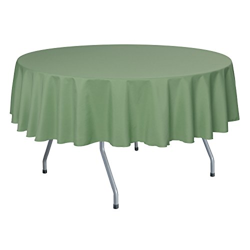 Ultimate Textile 60-Inch Round Polyester Linen Tablecloth Sage Green (Tablecloth Polyester Sage)