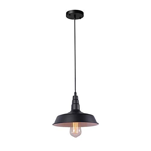 Barn Pendant Light Kitchen Lighting Industrial Vintage Farmhouse Ceiling Lamp for Indoor Kitchen Lighting Island E26 Base Pendant Lighting 1- Lights (Black Body)