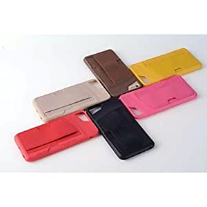 QJM Special Design Silica Gel PU Back Case for iPhone 6 (Assorted color) , Black