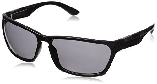 Suncloud Cutout Polarized Sunglass: Black Frame/Gray Polarized Polycarbonate Lenses