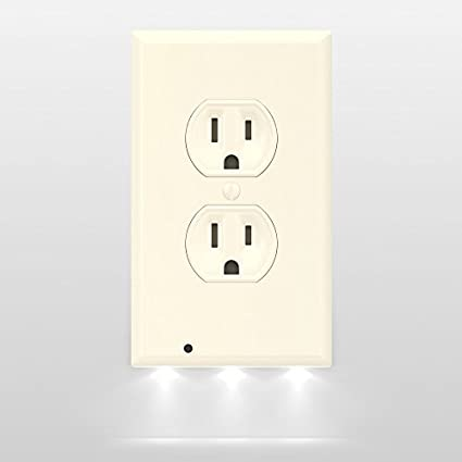 Snappower guidelight outlet wall plate with led night lights no snappower guidelight outlet wall plate with led night lights no batteries or wires aloadofball Image collections