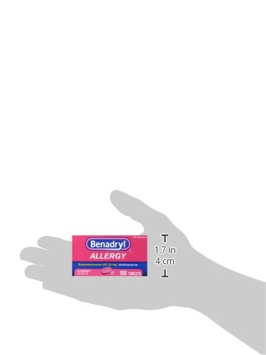 Benadryl Ultratabs Antihistamine Allergy Relief with Diphenhydramine HCl 25 mg, 100 ct