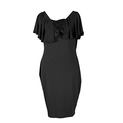 vestidos de mujer,Switchali Mujer Moda verano Manga de capote Vendaje delgado Fiesta Nocturna Corto Mini vestido Negro