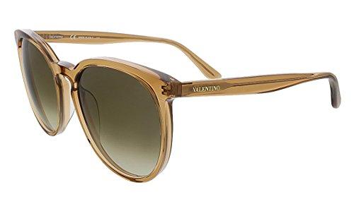 Valentino V726S 241 Light Brown Round Valentino - Round Valentino Women's Sunglasses