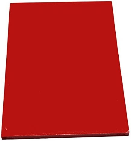 100 Blatt farbiges Druckerpapier / buntes Kopierpapier / Farbe: intensiv rot