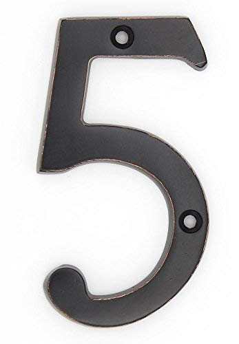(ZW Hardware A300 4 Inch Oil-Rubbed Bronze House Number 5)
