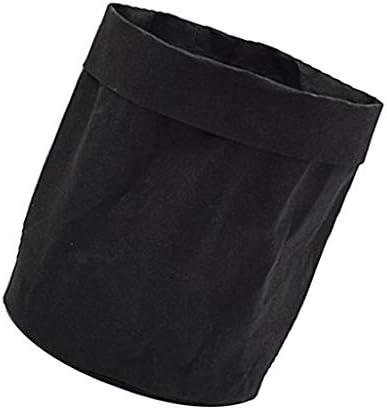 NATFUR Washable Kraft Paper Bag Palnt Waterproof Flower Pots Home Storage Bag Pouch   Size - Black L / NATFUR Washable Kraft Paper Bag Palnt Waterproof Flower Pots Home Storage Bag Pouch   Size - Black L
